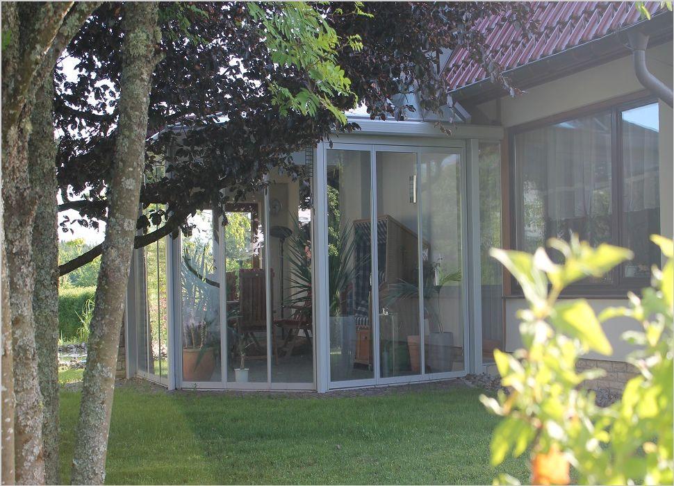 Aluminium Wintergarten mit Faltschiebetüren für große Öffnungen